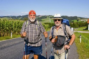 Image of: Three Old Travelers From Austria Tours Around Latvia Austrian Travelers Are Walking 2000 Kilometers Old Amber Way