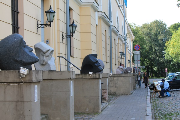 Riga old town streets art