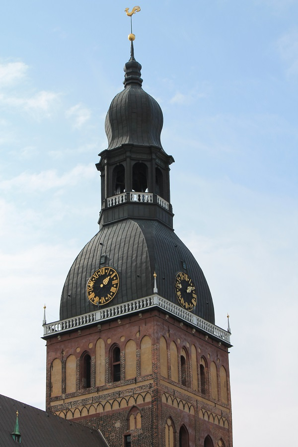 Dome cathedral tower in Riga, Latvia