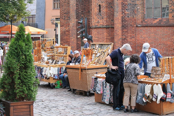 Market in Riga old town