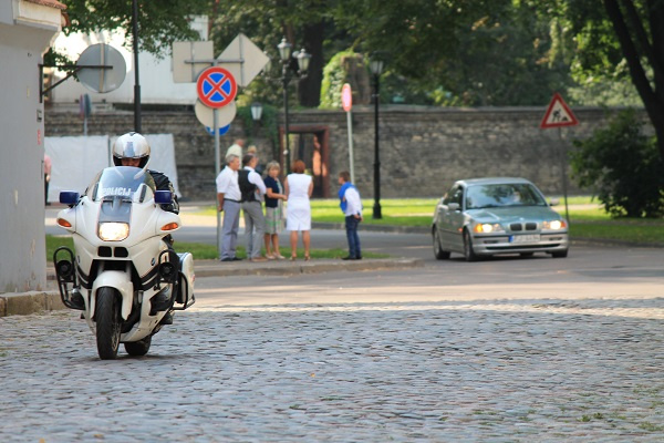 Police in Riga Old town