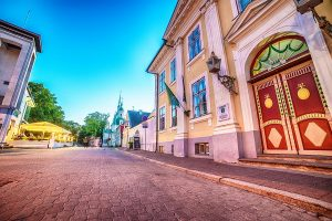 83879806 - parnu, estonia, baltic states: the old town at night